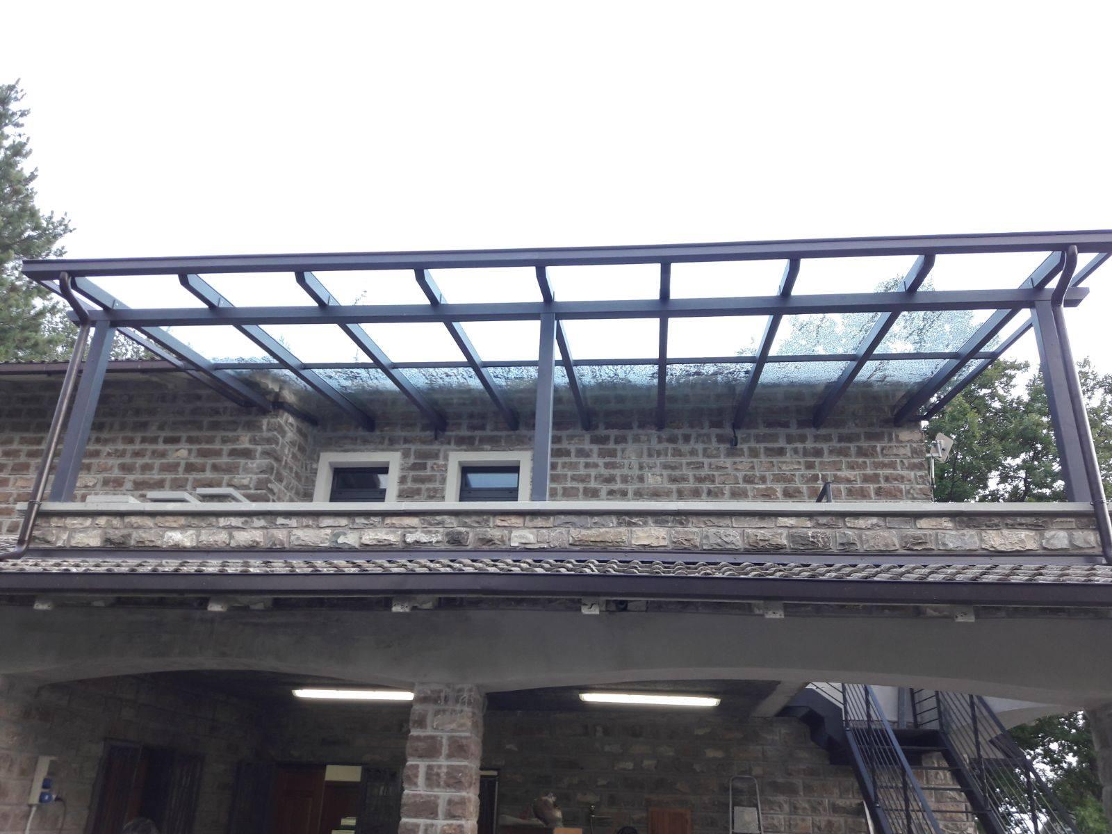 Installazione Tettoia In Ferro E Vetro Rofelle Gabrielli Infissi